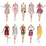 Doll Accessories Handmade Fashion Party Gown Dresses & Clothes for Barbie Doll