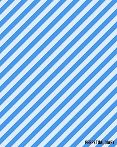 Perpetual Diary: Blu Stripes   Record All Your Important Celebrations
