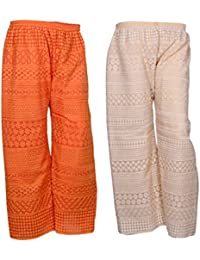IndiStar Women Combo Pack (Pack Of 2 Georgette Pallazo With Astar) - B078M46NW7