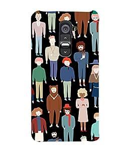 PrintVisa Man Woman Silhouette 3D Hard Polycarbonate Designer Back Case Cover for LG G2 :: LG G2 D800 D802 D801 D802TA D803 VS980 LS980