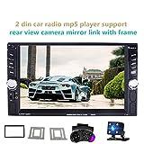 WWAVE 2 Din Auto Radio Hd 6,6' Touch Screen Autoradio Auto Player Bluetooth hinten Ansicht Kamera Audio Aux USB-Autoladegerät mit Rahmen