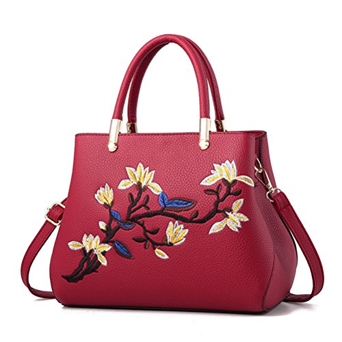 Flada, Borsa tote donna rosso Red medium Wine