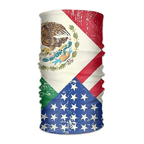 False warm warm Unisex Stylish Mexico Mexican USA America Flag Quick Dry Microfiber Headwear Outdoor Magic Bandana Neck Gaiter Head Wrap