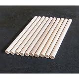 10chevilles en bois, bâtons d'activités manuelles de 10mm d'épaisseur et de 10cm, 15cm, 30cm de long, 10 cm