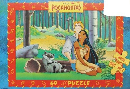 Disney Pocahontas im Zelt Puzzle aus 60 Holz Teilen (Disney Holz Puzzle)