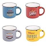Coffret 8 tasses à café décor vintage, Table Passion