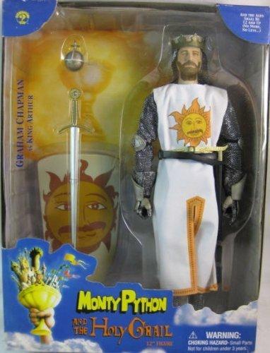 """Monty Python y el Santo Grial Graham Chapman como King Arthur Coleccionable 12""""figura"""