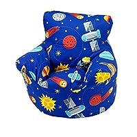 Childrens Bean Bag Chair 100% Cotton Light Pink Childrens Bean Bag Chair Small 50x50x50cm)
