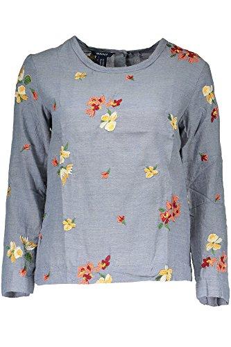GANT 1403.432106 T-Shirt mit 3/4 Ärmeln Damen AZZURRO 452