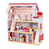 Kidkraft 65054 Chelsea Doll Cottage. A classic wooden dolls house standing over two