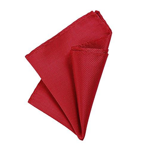 DonDon Herren Einstecktuch 21 x 21 cm formstabil und verstellbar für feierliche Anlässe rot - Rot Karierte Einstecktuch