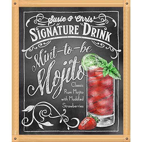 Y56(TM) DIY Stickerei Gemälde Strass eingefügt Diamant Malerei Kreuzstich, Saft, Soda, Kürbis, Erdbeere, Mojito, Rum, Ananas, 25X30cm