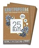 Premium papel de estraza A4 de 180 g – 21 x 29,7 cm – Formato DIN – Papel de manualidades &...