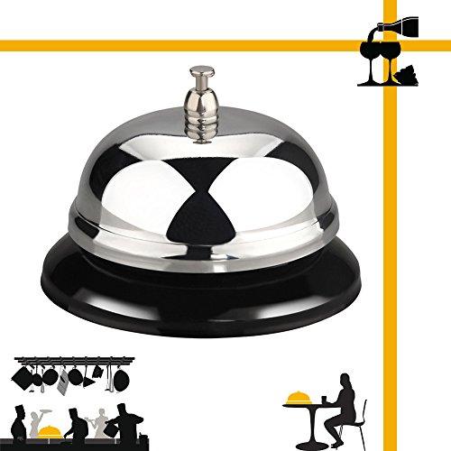 Metall Desktop Empfangsservice Service Drücken Sie auf Glocke für Butler Rezeption Kellner Ladentheke Drama Spiel spielen