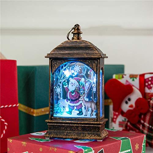 Weihnachtskerze mit LED Tee licht Kerzen für Weihnachtsdekoration Teil Auß Hnliche Beleuchtet Adventsschmuck (C) (A)