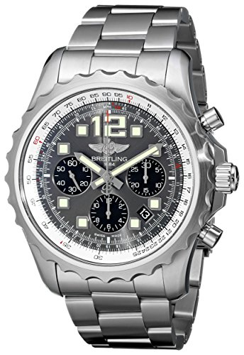 Breitling Men's A2336035-F555 Analog Display Swiss Automatic Silver Watch