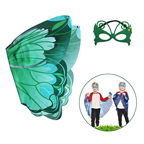 ZOYLINK Kids Schmetterlingsflügel Creative Dress up Flügel Kostüm Flügel mit Maske für Party