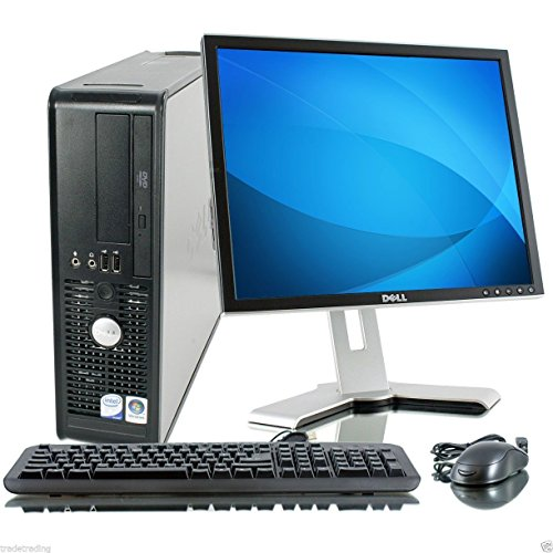 Dell Windows 7 - Dell OptiPlex Computer Tower mit LCD TFT Flachbildschirm - Gratis 1 Jahr Verlängerungsgarantie - Leistungsstarker Intel Core 2 Duo CPU - Massiver 250GB Festplatte - 4GB RAM - DVD - kabellos Internet bereit - QWERTZ Deutsche Keyboard & Maus - Windows 7