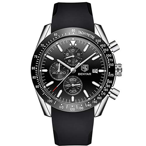 Orologio da polso analogico al quarzo di Lyperkin, orologio da polso analogico da polso di affari con orologio al quarzo a quadrante casuale con cinturino in silicone per donne e uomini N-06