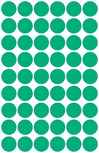 Avery 3143 Círculo Verde 270pieza(s) - Etiqueta autoadhesiva (Verde, Círculo, Papel, 1,2 cm, 270 pieza(s), 54 pieza(s))