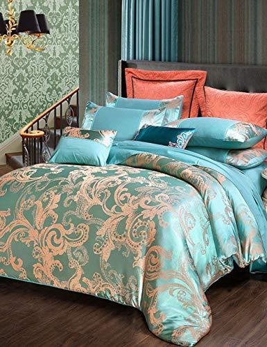 TUTOU Europäischen Stil heimtextilien bettdecke Bett einfache Baumwolle Jacquard bettwäsche königin vierteiliger Anzug (gelbe bettbezug),Ae0112,86.6 * 94.4