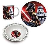 Star Wars Frühstücksset Geschirr-Set Darth Vader Storm Trooper 3-tlg.