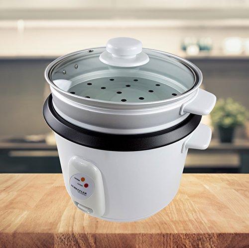Elettrico riso bollitore 1,8L per cottura a vapore 700W scalda riso risotto Fornello Sushi Riso funzione scaldavivande bianco