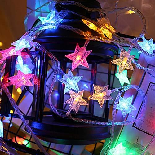 Guirlande lumineuse LED, LONJY Star Etoilées Lumières LED Lumière Décorative USB pour intérieur et extérieur, Noël, Mariage, Soirée, Jardin, multicolore, 6M/19.6FT