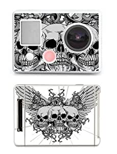 SKIN STICKERS FOR GOPRO HERO (STICKER : THREE SKULLS WITH WINGS)