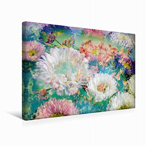 Calvendo Premium Textil-Leinwand 45 cm x 30 cm Quer Ein Ozean von Blüten   Wandbild, Bild auf Keilrahmen, Fertigbild auf Echter Leinwand, Leinwanddruck: Impressionistische Blütenpoesie Natur Natur