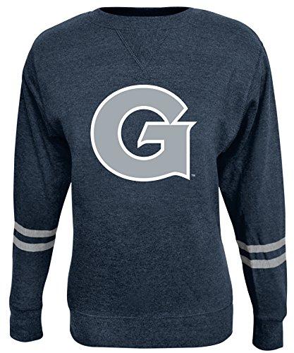 NCAA Damen Crew Sweatshirt, Damen, ROSAURA, navy, Medium (Sweatshirt Fleece Scoop Neck)