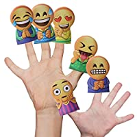 Peeks Box of 96 Smile Face Emoji Finger Puppets Party Loot Bags Game Prizes