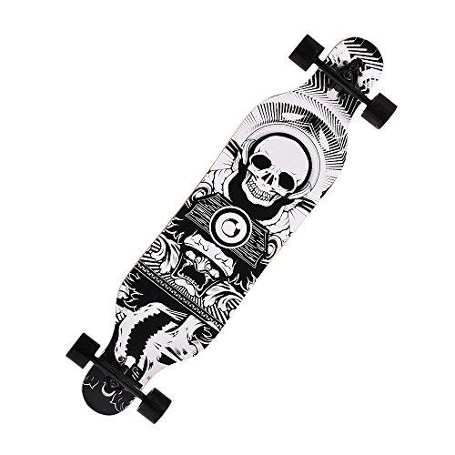 Preisvergleich Produktbild Teamyy Teamyy Longboard Anfänger Skateboard 104 x 23 x 10CM Erwachsene Kinder Farbe Wählbar