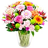Eden4flowers SUM-MSGD Exclusive Fresh Flowers Midsummer Garden Bouquet - Multi-Colour