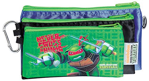 Trousse Bleu avec 3 poches (!!) officiellement certifiée Authentique Tortues Ninja / Ninja Turtles Teenage Mutant \\