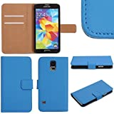 MobileConnect4U� Real Leather Wallet Flip Case Cover For Samsung Galaxy S4 Mini i9190 & Screen Protector
