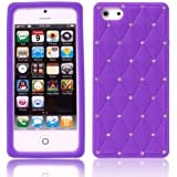 Bluetrade - BT-FS-AIP5DV - Etui en silicone pour iPhone 5 - Violet Diamant