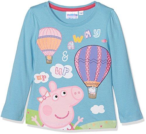 Peppa Pig Peppa Dino Friend, Camiseta para Niñas, Azul (Blue 15-4421TC), 7-8 Años