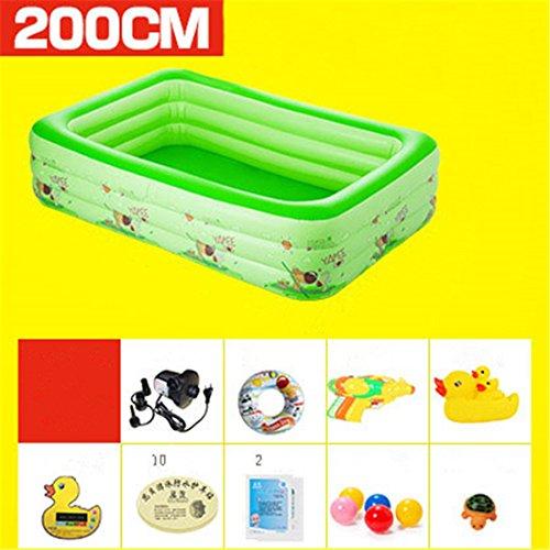 YUGNG Verdicken Umweltfreundliche PVC Baby Kinder Schwimmen Gefaltet aufblasbare Quadratische Familie Pool Ball Pool 200*150*60cm Geeignet für über 3 Jahre Alt