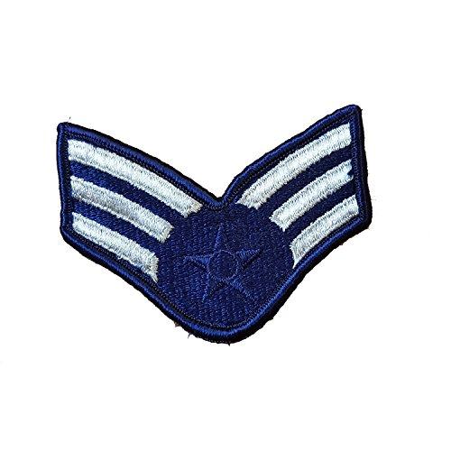 USA Air Force / Abzeichen / Militärrang / Sergeant / USAF / Spezialeinheit / bestickter Aufnäher / Replik / Ärmelabzeichen / Ideal für Militär, Air Force Nachstellung, Verkleidung / Elvis - Elvis-souvenir