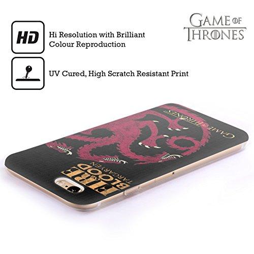 Offizielle HBO Game Of Thrones Stark House Mottos Soft Gel Hülle für Apple iPhone 7 / iPhone 8 Targaryen