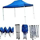 'Amaze' (15'x10') Quick Foldable Gazebo Canopy Display Advertising Tent Outdoor Garden shelter Car Parking Shed (4.5mx3m)Blue
