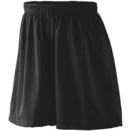 Augusta Sportswear Damen Tricot Mesh Kurz, Damen, Shorts, Ladies Tricot Mesh Short, Schwarz, XX-Large - Augusta Sportswear Kordelzug