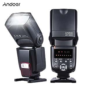 Andoer AD-560II Universal Flash Speedlite On-camera Flash GN50 w/ Adjustable LED Fill Light for Canon Nikon Olympus Pentax DSLR Cameras