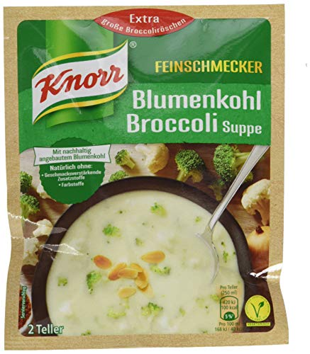 Knorr Feinschmecker Blumenkohl Broccoli Suppe, 2 Teller, 13er Pack
