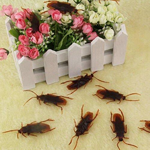 Tinksky-Fake-Roach-Prank-novedad-de-cucarachas-plsticas-Bugs-Look-Real-para-el-Da-de-los-inocentes-Halloween-Fools-Day-Decoracin-del-partido-de-100-pack