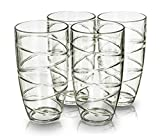 4 Kunststoff-Gläser 4PC SWIRL ACRYLIC TUMBLERS GLASSES