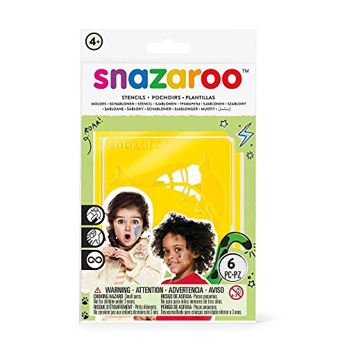 Snazaroo Face Paint Stencils - Unisex, Set of 6