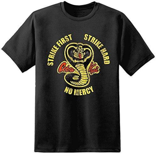 Digital Pharaoh Karate Kid Cobra Kai T-Shirt - Trüb Retro Logo T-Shirt - Schwarz, XXX-Large (Cobra Kid T-shirt Karate Kai)