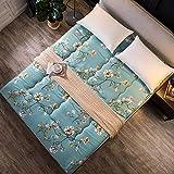 DULPLAY Respirable Dormitorio Tatami Colchón Topper, Plegable Cama alfombras Protector de colchón Cómodo Sleeping Pad